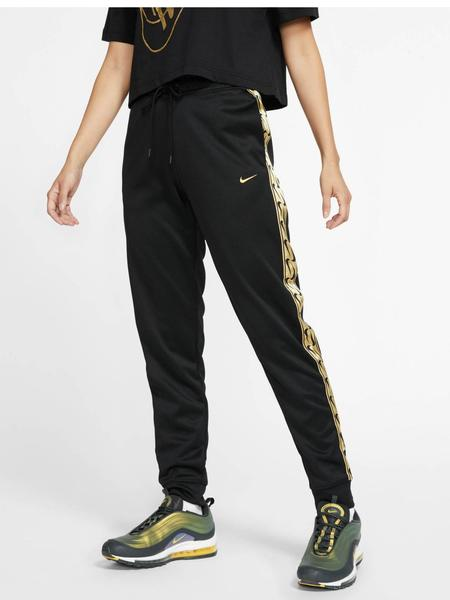 gobierno Impedir Polo  Pantalon Nike Negro/Oro Mujer