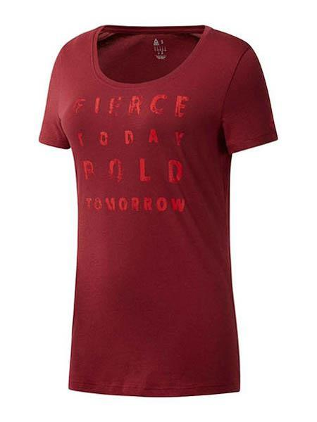 Camiseta Reebok Fierce Today Scoop Granate