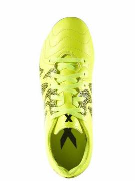 Bota Adidas X15.3 FG/AG J Leather Amarillo