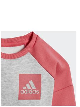 Chandal Adidas l SP Fleece Jog Gris/Rosa