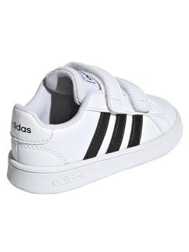 Zapatilla Adidas Grand Court I Blanco/Negro Bebe
