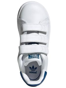 Zapatilla Adidas STAN SMITH CF I Blanco/Azul Bebé