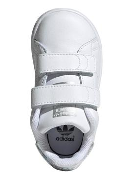 Zapatilla Adidas Stan Smith CF I Blanco/Plata