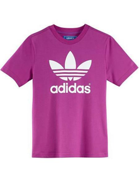 Camiseta Adidas J Trefoil Tee Rosa Niña