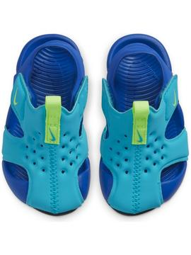 Chancla Nike Sunray Turquesa/Royal  Niñ@