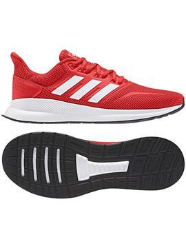 inversión Sabio Escalera  Zapatilla Adidas Runfalcon Rojo Hombre