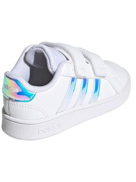 Zapatilla Adidas Grand Court Blanco Iridiscente