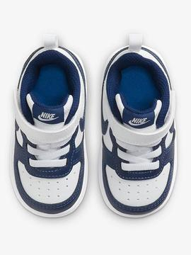 Zapatilla Nike Court Borought Blanco/ Azul